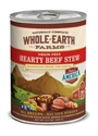 Whole Earth Farms Grain-Free Hearty Beef Stew Recipe Canned Dog Food, 12 oz, 12 Pack