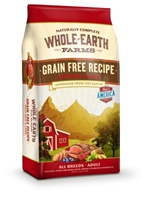 Whole Earth Grain-Free Recipe with Beef & Lamb Dry Dog Food, 4 lbs