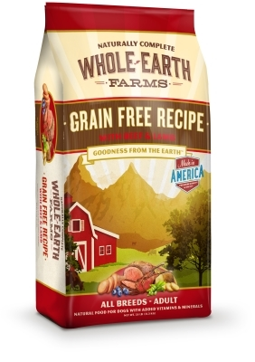 Whole Earth Grain-Free Recipe with Beef & Lamb Dry Dog Food, 25 lbs