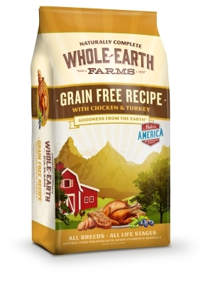 Whole Earth Grain-Free Recipe with Chicken & Turkey Dry Dog Food, 12 lbs