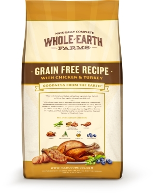Whole Earth Grain-Free Recipe with Chicken & Turkey Dry Dog Food, 4 lbs
