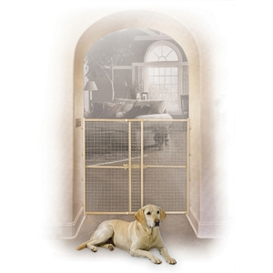 "Wood & Wire Mesh Expandable Pet Gate, 44"" x 29"""