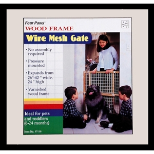 "Wood Frame Wire Mesh Gate, 24"" x 26"""