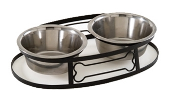 Wrought Iron Bone-Shaped Double Diner, 1 quart- Bulk