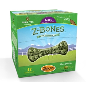 Z-Bone Dental Treats Clean Apple Crisp Giant, 12 ct