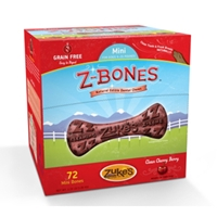 Z-Bone Dental Treats Clean Cherry Berry Mini, 72 ct