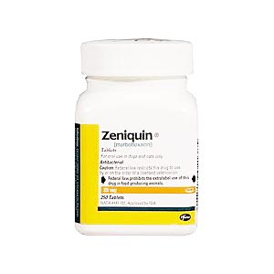 Zeniquin 50 mg, 250 Tablets (marbofloxacin)