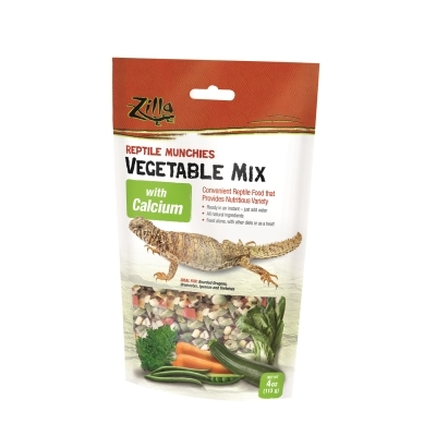 Zilla Reptile Munchies Vegetable Mix with Calcium