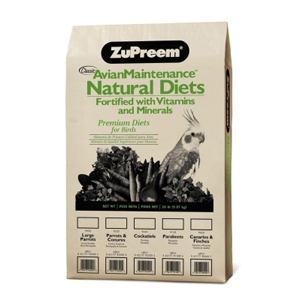 ZuPreem Avian Maintenance Natural Diets for Large Parrots, 20 lb