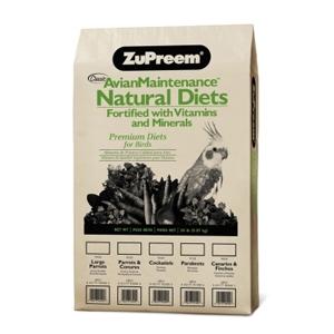 ZuPreem Avian Maintenance Natural Diets for Parrots & Conures, 20 lb