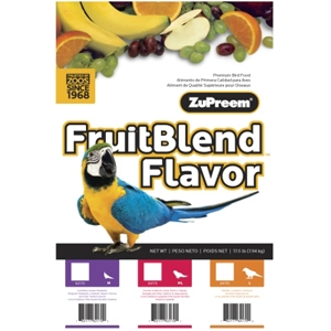 ZuPreem FruitBlend Bird Food for Medium Birds, 17.5 lb