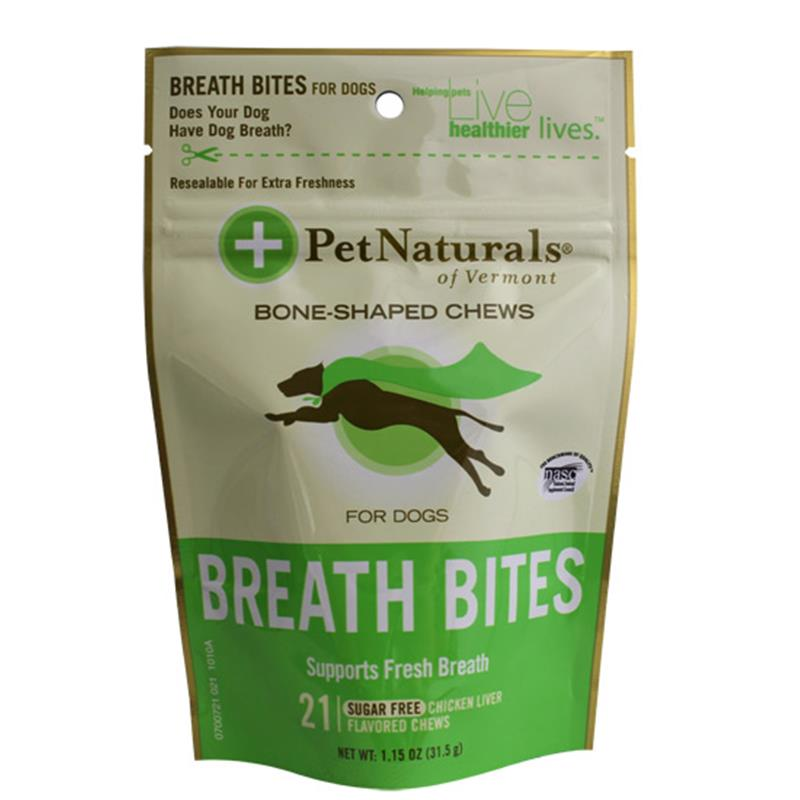 Pet Naturals Breath Bites Soft Chews for Dogs, 1.15 oz, 21 ct.