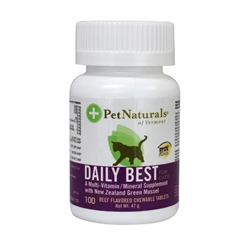 Pet Naturals Daily Best Beef Flavored Tablets for Cats, 100 ct.