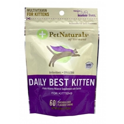 Pet Naturals Daily Best Fun Shaped Multi-Vitamin Soft Chews for Kittens, 60 ct.