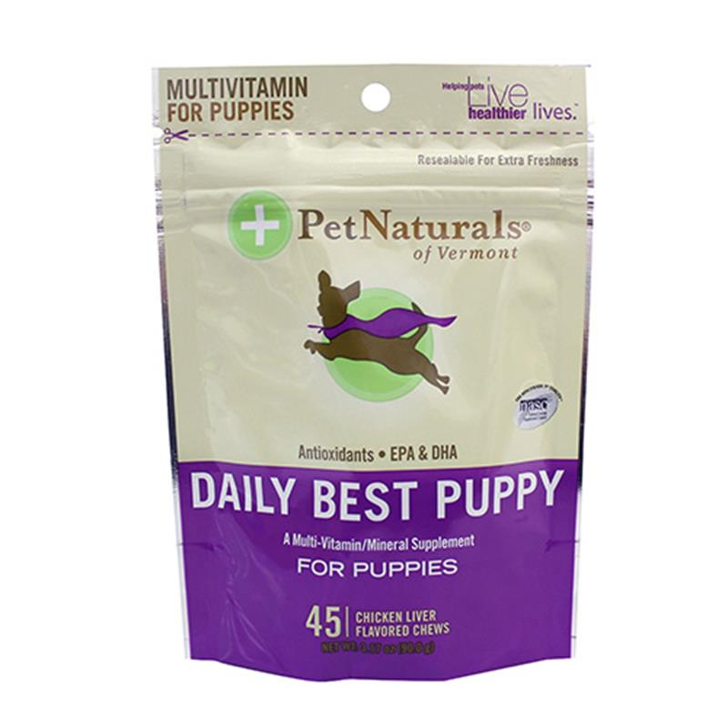 Pet Naturals Daily Best Multi-Vitamin Bone Chews for Puppies, 3.17 oz, 45 ct.