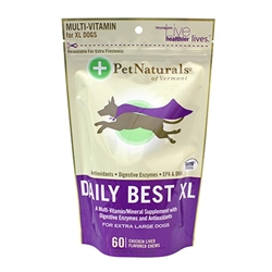 Pet Naturals Daily Best Multi-Vitamin Bone Chews for XL Dogs, 10.54 oz, 60 ct.