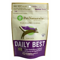 Pet Naturals Daily Best Multi-Vitamin Soft Chews for Cats, 1.58 oz, 45 ct.
