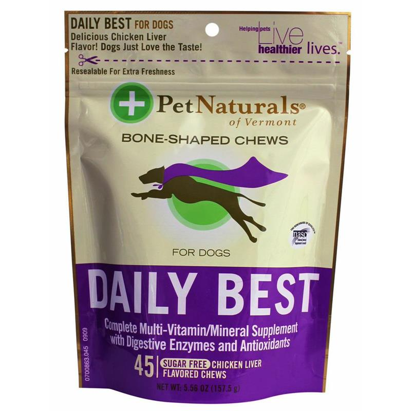 Pet Naturals Daily Best Multi-Vitamin Soft Chews for Dogs, 5.56 oz, 45 ct.