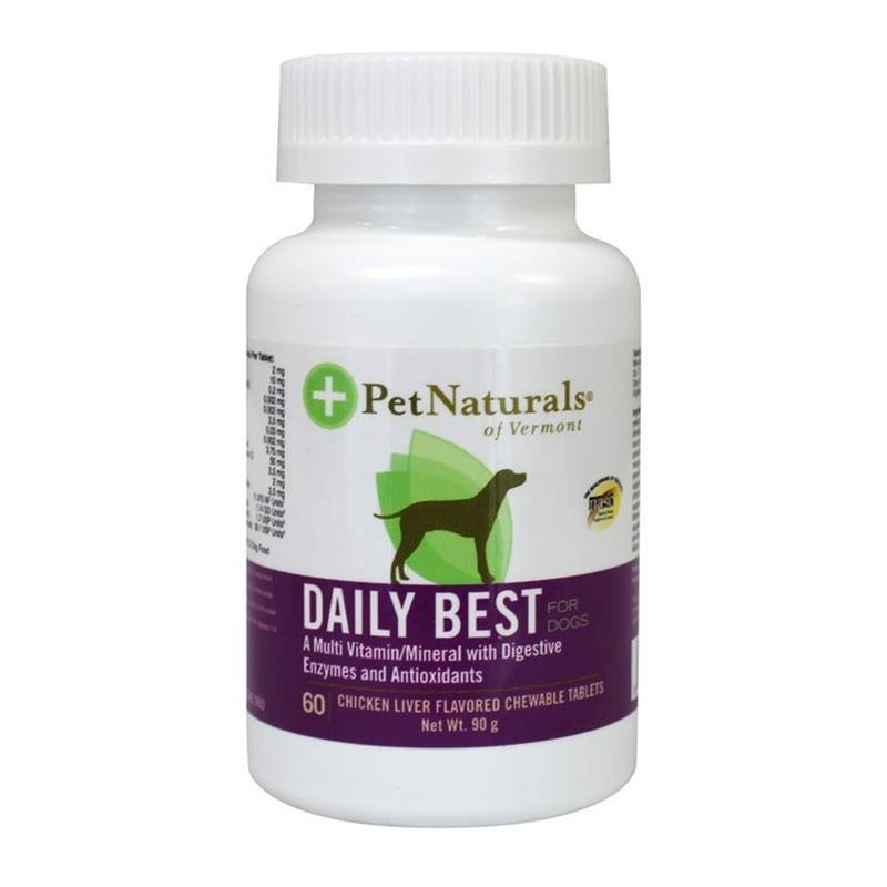 Pet Naturals Daily Best Multi-Vitamin Tablets for Dogs, 60 ct.