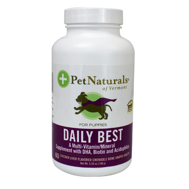 Pet Naturals Daily Best Multi-Vitamin Tablets for Puppies, 60 Ct.