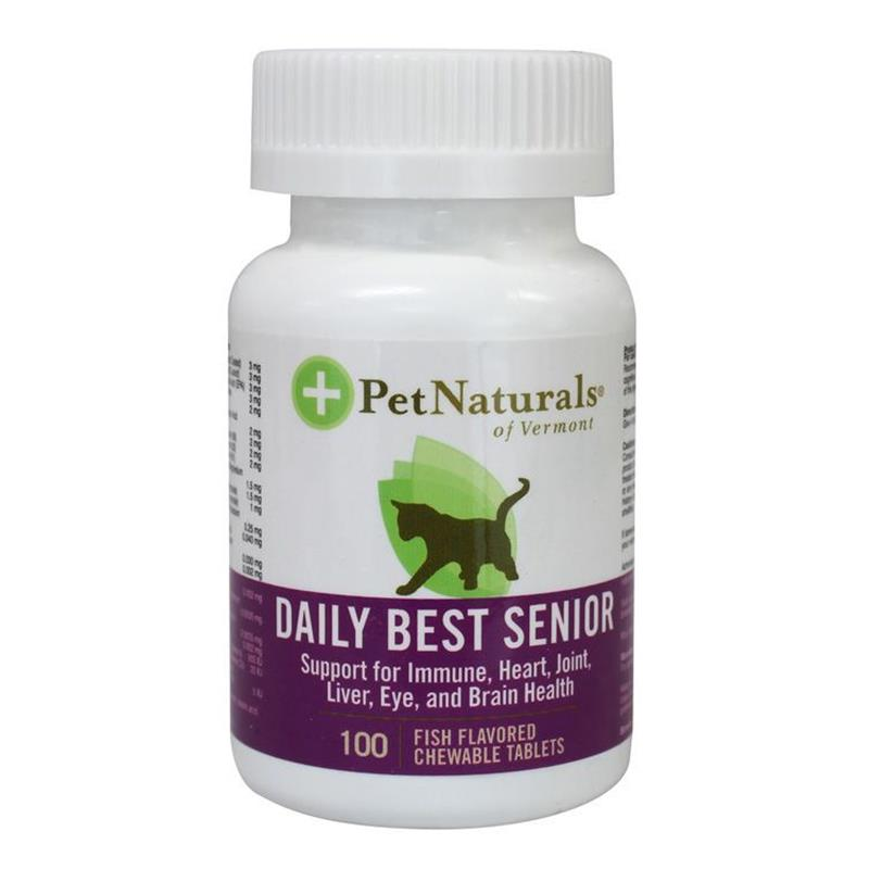 Pet Naturals Daily Best Senior Fish Flavored Tablets for Cats, 100 ct.