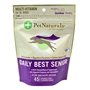 Pet Naturals Daily Best Senior Multi-Vitamin Bone Chews for Dogs, 5.29 oz, 45 ct.