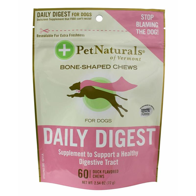 Pet Naturals Daily Digest Soft Chews for Dogs, 2.54 oz, 60 ct.