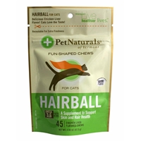 Pet Naturals Hairball Soft Chews, 2.38 oz, 45 ct.