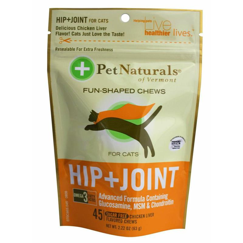 Pet Naturals Hip & Joint Soft Chews for Cats, 2.22 oz, 45 ct.