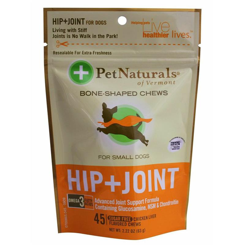 Pet Naturals Hip & Joint Soft Chews for Small Dogs, 2.22 oz, 45 ct.