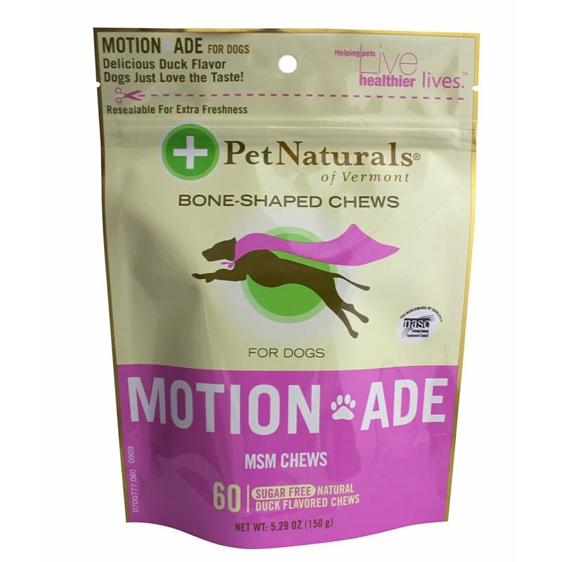 Pet Naturals Motion Ade MSM Soft Chews for Dogs, 5.29 oz, 60 ct.