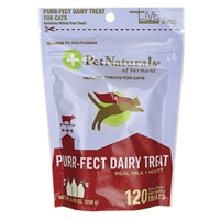 Pet Naturals Purr-fect Dairy Treat Soft Chews for Cats, 5.29 oz, 120 ct.