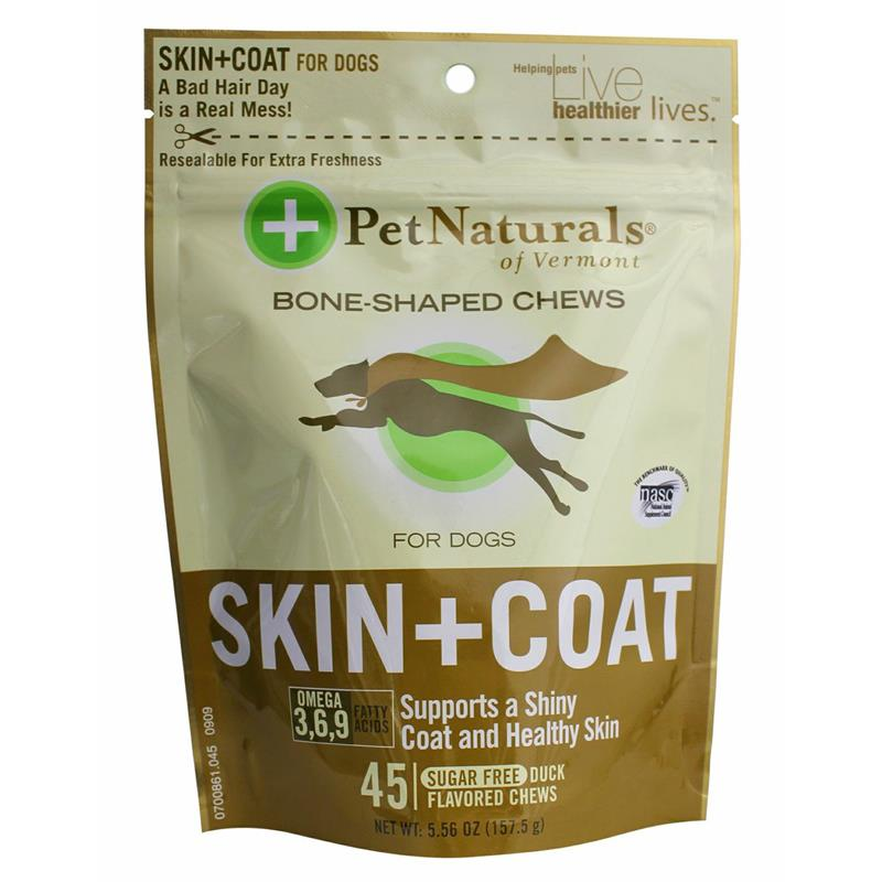 Pet Naturals Skin & Coat Soft Chews for Dogs, 5.56 oz, 45 ct.