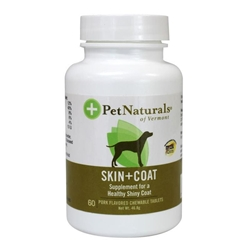 Pet Naturals Skin & Coat Support Chewable Tablets for Dogs, 60 ct.