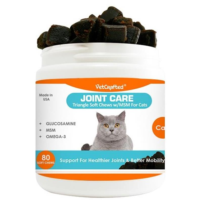 VetCrafted Joint Care Triangle Soft Chews with MSM for Cats, 80 ct.
